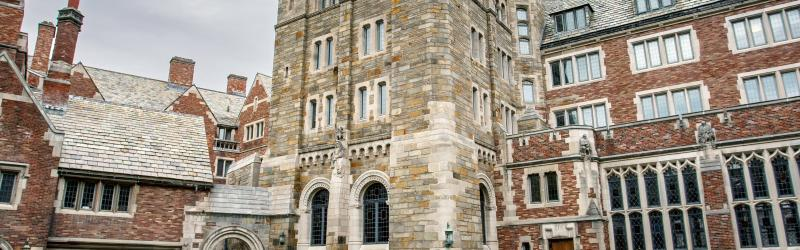 Exterior view of Yale Law School building